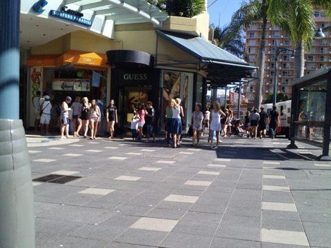 オーストラリア ゴールドコーストの街中の写真